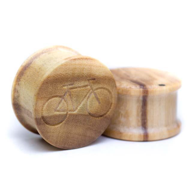 Holz Plug Fahrrad Olivenholz - van branch - Paar