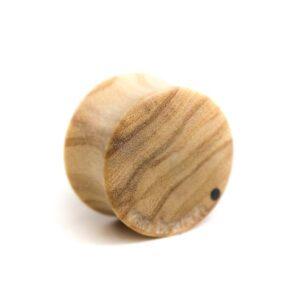 Holz Plug Schnurrbart Olivenholz - van branch - Rück