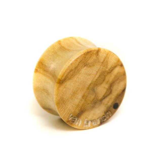 Holzplug Anker Olivenholz - van branch - Rückansicht
