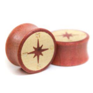 """Holzplug """"Kompass"""" Pink Ivory - van branch - Paaransicht"""