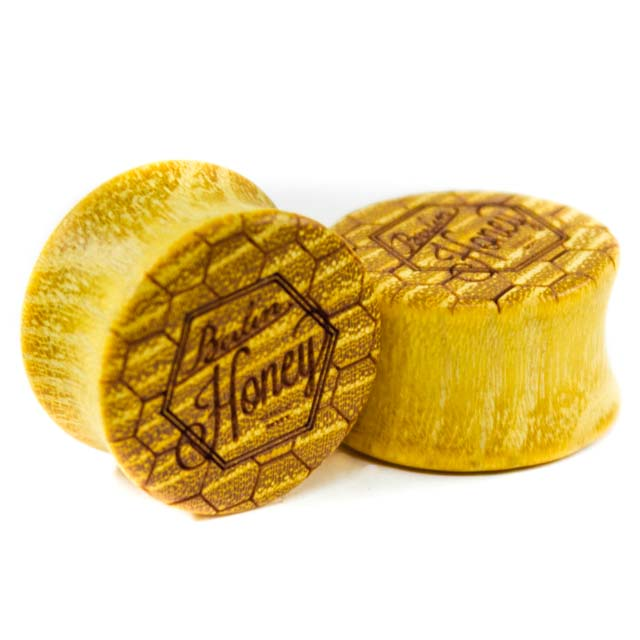 Holz Plug Berlin Honey Osage Orange - van branch - Paaransicht