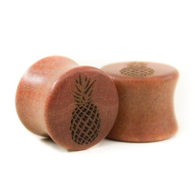 Holz Plug Ananas Pink Ivory - van branch - Paaransicht