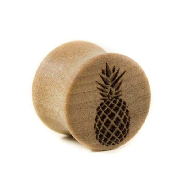 Holz Plug Ananas Elsbeere - van branch - Frontansicht