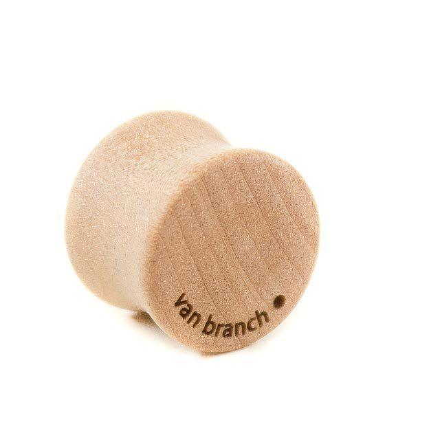 Holz Plug Wunschmotiv Elsbeere - van branch - Rückansicht