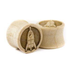 Holz Plug Rakete Ahorn - van branch - Paaransicht