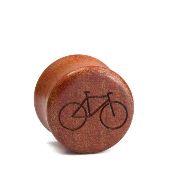 Holz Plug Fahrrad Pink Ivory - van branch - Front