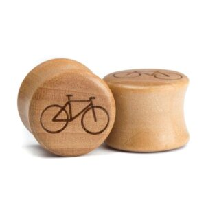 Holz Plug Fahrrad Elsbeere - van branch - Paar