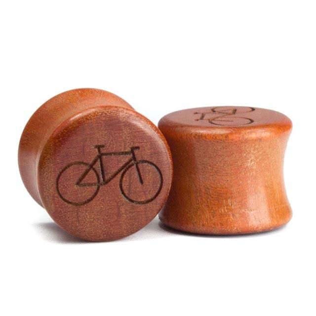 Holz Plug Fahrrad Pink Ivory - van branch - Paar