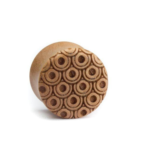 Holz Plug Jungfernheide Elsbeere - van branch - Frontansicht