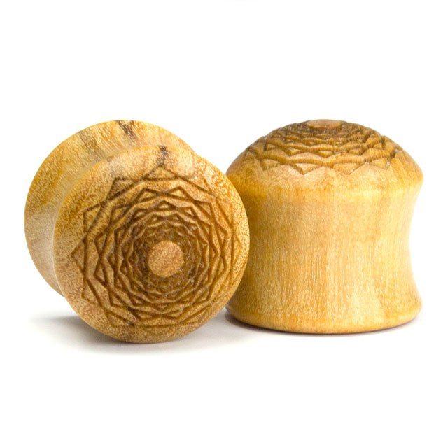 Holz Plug Kreuzberger Rose Olivenholz - van branch - Paaransicht