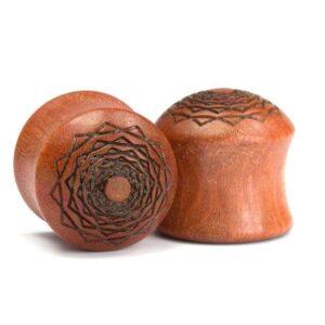 Holz Plug Kreuzberger Rose Pink Ivory - van branch - Paaransicht