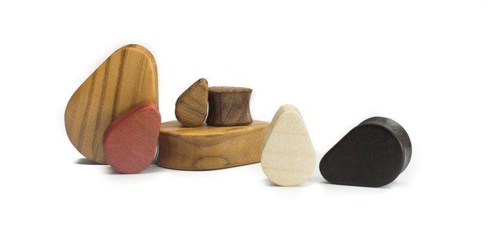 Holz Teardrops Moabit Zebrano - van branch - Gruppe