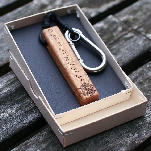 Schlüsselanhänger Olivenholz - van branch