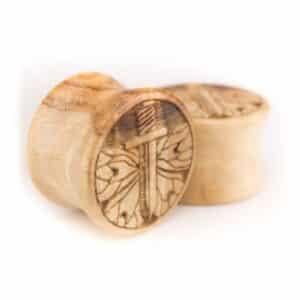 Holz Plug Schwert Olivenholz - van branch - Paaransicht