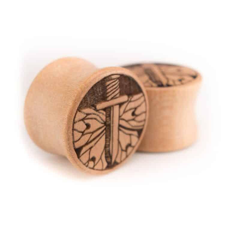 Holz Plug Schwert Elsbeere - van branch - Paaransicht