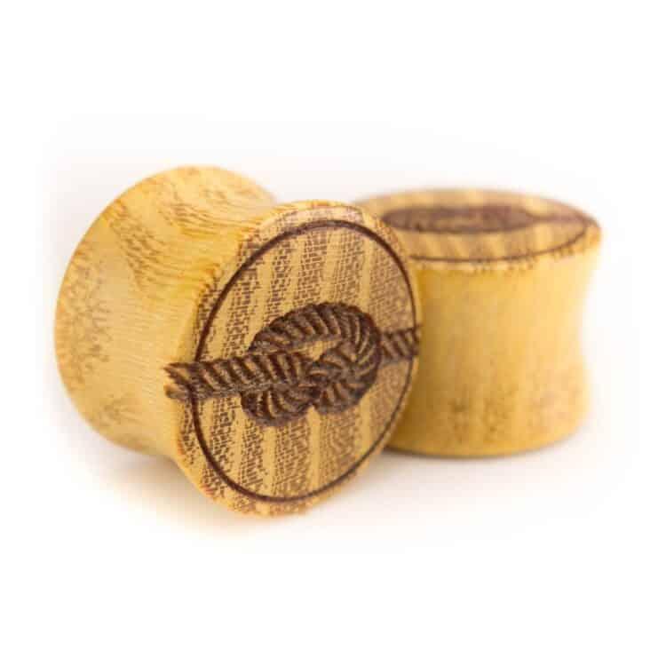 Holz Plug Knoten Osage Orange - van branch - Paaransicht