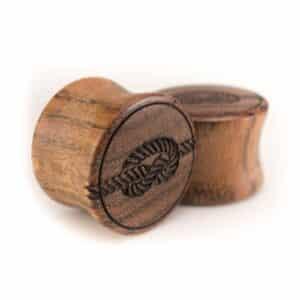 Holz Plug Knoten Chechen - van branch - Paaransicht