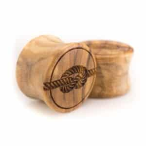 Holz Plug Knoten Olivenholz - van branch - Paaransicht