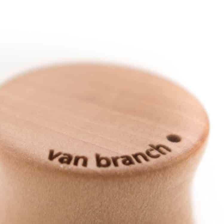 Holz Plug Schwert Elsbeere - van branch - Branding Detail