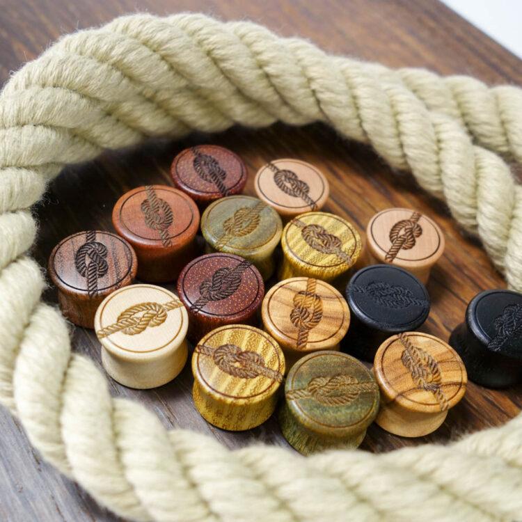 Holz Plug Knoten - van branch - Variationen 14mm