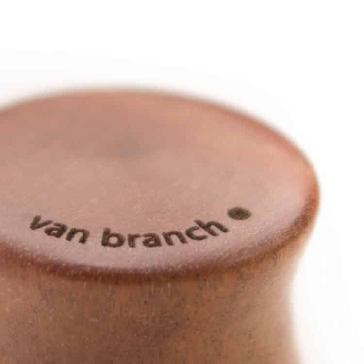 Holz Plug Schwert Pink Ivory - van branch - Branding Detail