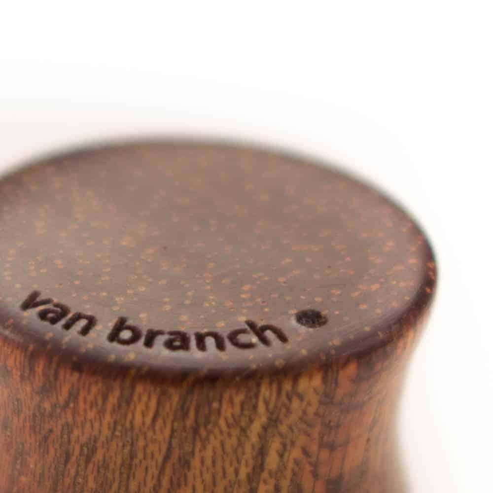 Holz Plug Knoten Satiné - van branch - Branding Detail