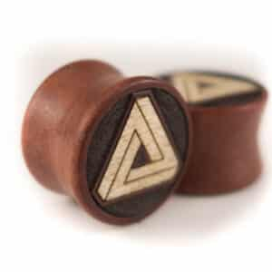 Holz Plug Penrose Dreieck Pink Ivory - van branch - Paaransicht