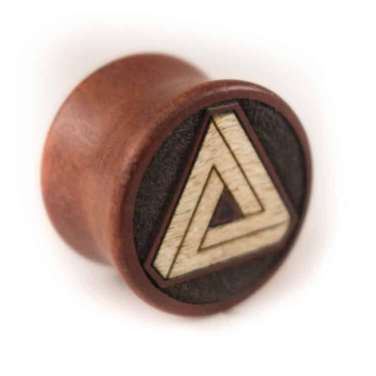Holz Plug Penrose Dreieck Pink Ivory - van branch - Einzelstück