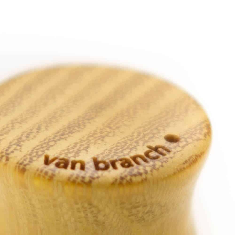 Holz Plug Bär Osage Orange - van branch - Branding Detail