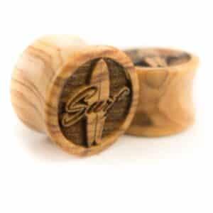 Holz Plug Surf Olivenholz - van branch - Paar