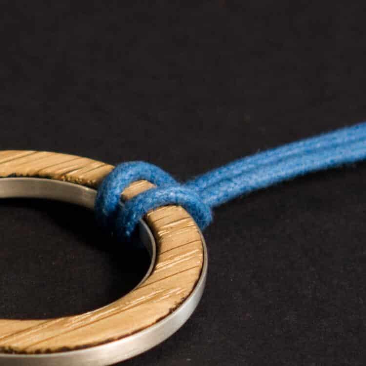 van branch - Friedenau - individuelle Kette - Baumwollband schwarz - Sterlingsilber