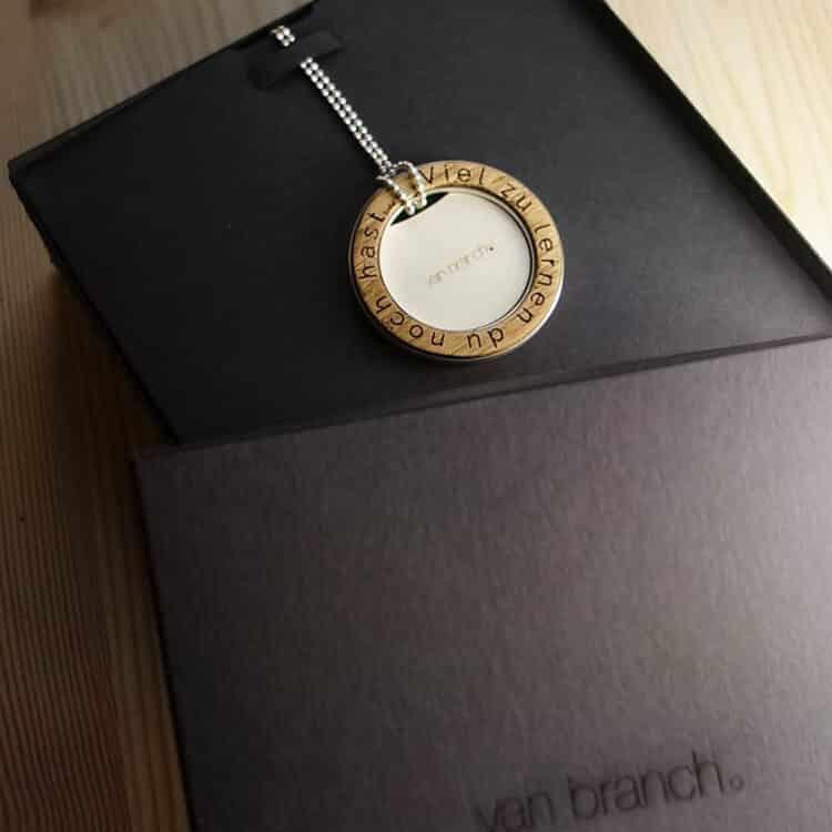 van branch - Friedenau - individuelle Kette - Verpackung - Sterlingsilber