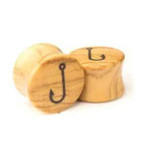 Holz Plug Angelhaken Olivenholz - van branch - Paaransicht
