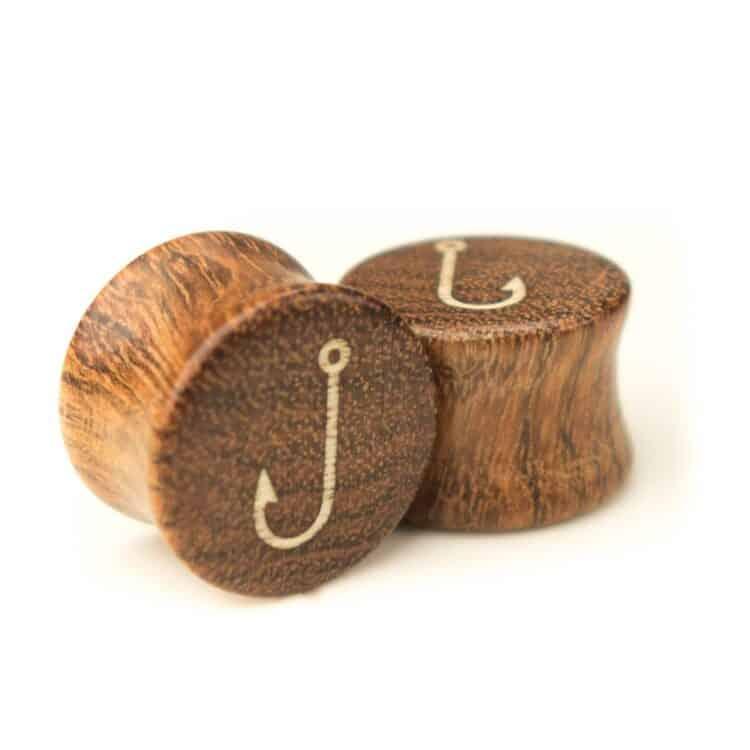 Holz Plug Angelhaken Chechen - van branch - Paaransicht