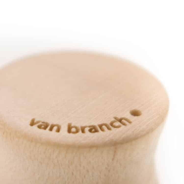 Holz Plug Priesterweg Ahorn | Verawood - van branch - Detail Branding