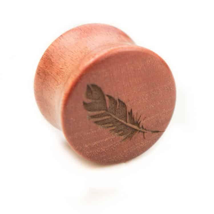 Holz Plug Feder Pink Ivory - van branch - Einzel