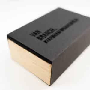 Holzring Eichborndamm Mooreiche   Sterlingsilber - van branch - Verpackung.: Filz, Eiche, Pappe schwarz