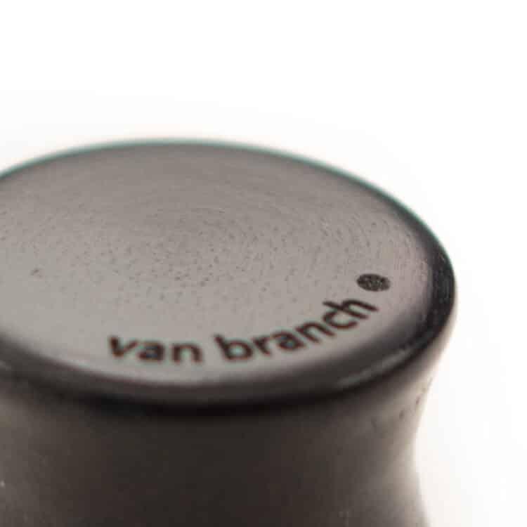 Handgefertigte 16 mm Ohr Plugs aus Ebenholz und Sterlingsilber mit Gravur