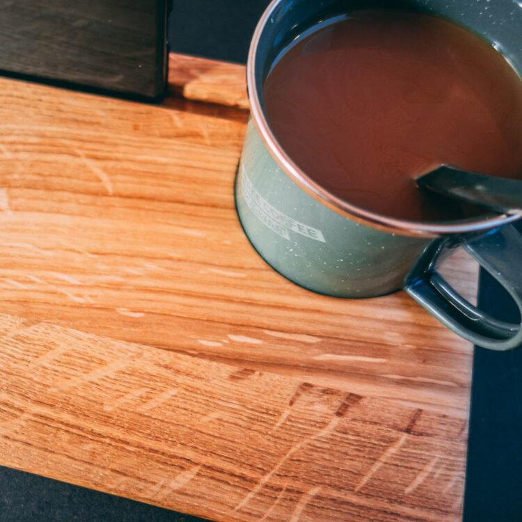 VAN BRANCH | MAKE COFFEE NOT WAR Frühstücksbrett und Tasse