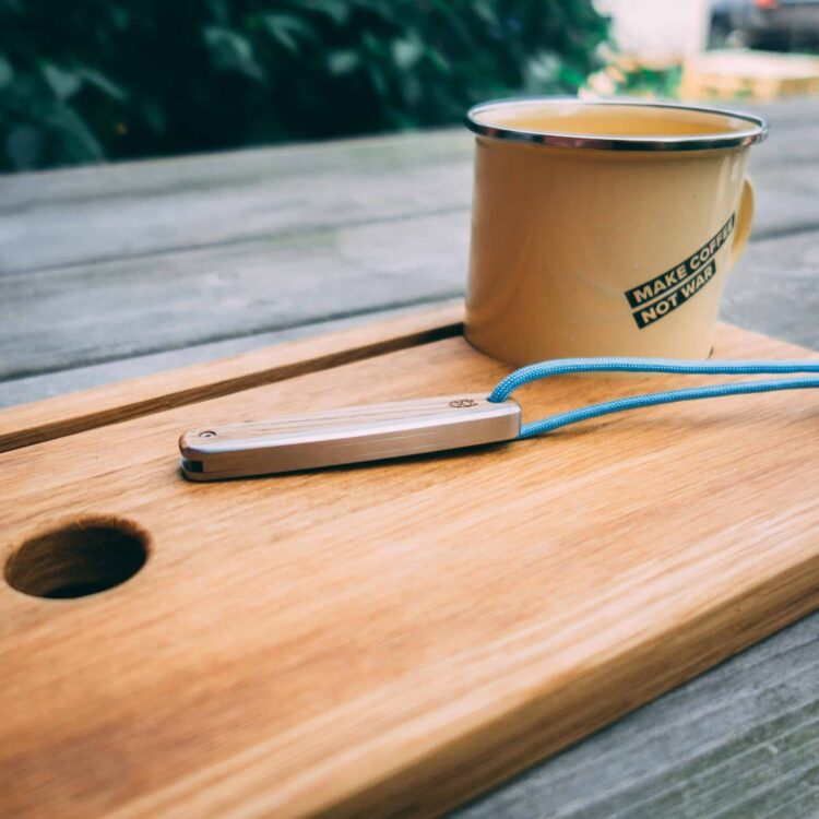 The James Brand THE COUNTY - White Oak + Stainless Taschenmesser