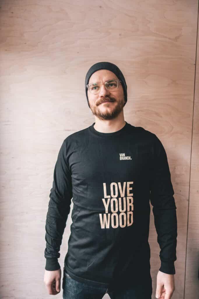Longsleeve schwarz LOVE YOUR WOOD-2