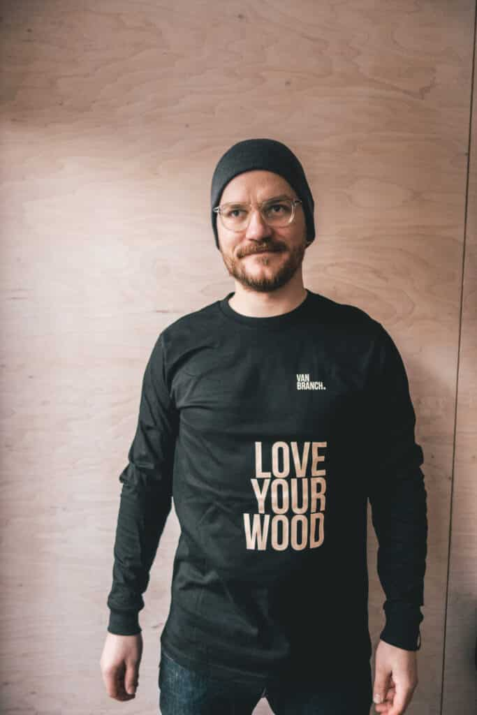 Longsleeve schwarz LOVE YOUR WOOD-4