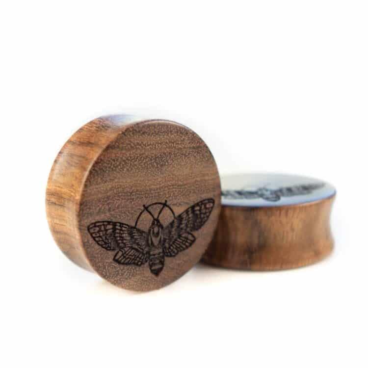 van branch | handgefertigte Motte Plugs aus Chechenholz