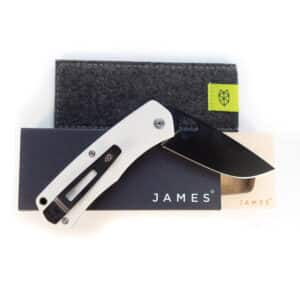 The James Brand Folsom, bone G10 + black, Stormtrooper Taschenmesser