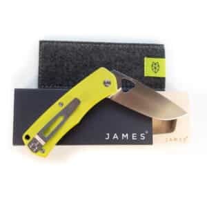The James Brand Folsom, electric moss + satin Taschenmesser