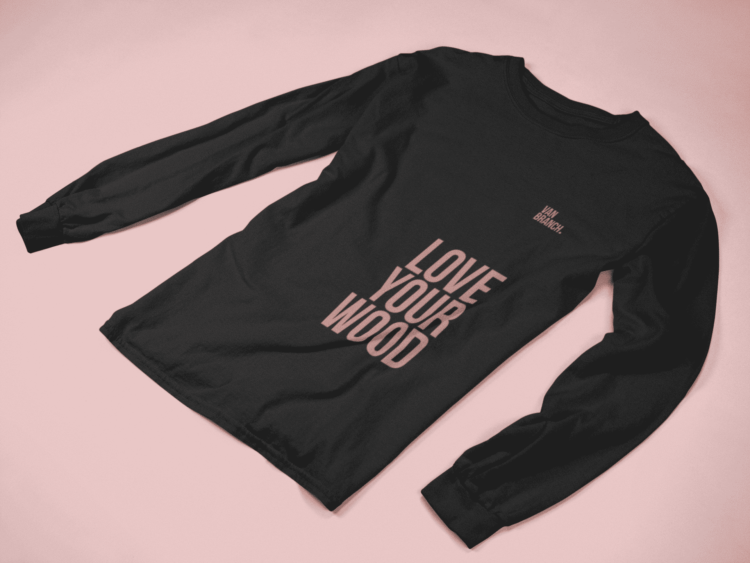 Longsleeve Love your Wood van branch black